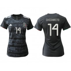 Mexico National Soccer Women's Jersey Black Home #14 2019 World Cup