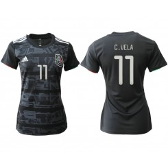 Mexico National Soccer Women's Jersey Black Home #11 2019 World Cup