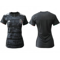Mexico National Soccer Women's Jersey Black Home 2019 World Cup