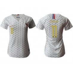 France National Soccer Women's Jersey White Away #11 2019 World Cup