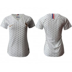 France National Soccer Women's Jersey White Away 2019 World Cup