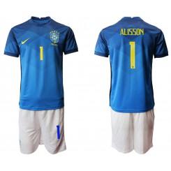 Brazil National Soccer Team 1 ALISSON Away Jersey