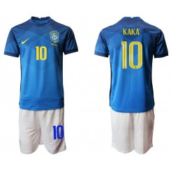 Brazil National Soccer Team 10 KAKA Away Jersey