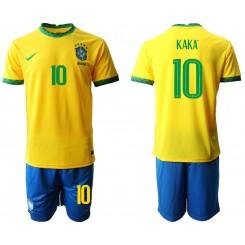 Brazil National Soccer Team 10 KAKA Home Jersey