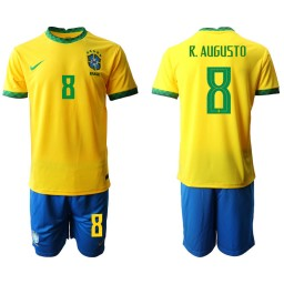 Youth Brazil National Soccer Team 8 R.AUGUSTO Home Jersey