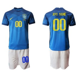 Youth Brazil National Soccer Team Customized Away Jersey