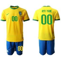 Youth Brazil National Soccer Team Customized Home Jersey