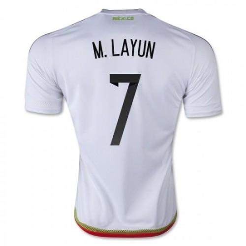 2ede20a41bd Mexico National Soccer Team #7 Miguel Layun Away Jersey 2016