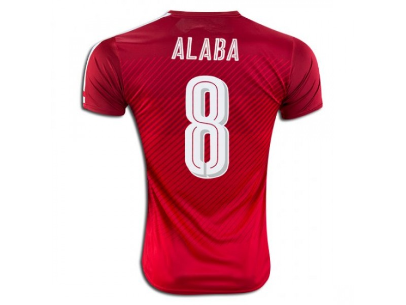 info for 96f42 579f7 Austria #8 David Alaba Home Football Shirt 2016