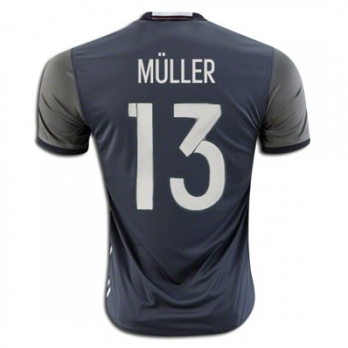 fcd547efcb4 Germany National Soccer Team  13 Thomas Muller Away Jersey 2016