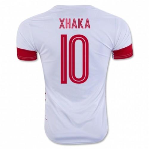 cef9535a7 ... jersey 2016  switzerland national soccer team 10 granit xhaka away  jersey 2016  2018 world cup switzerland soccer jersey home away thai  quality embolo ...
