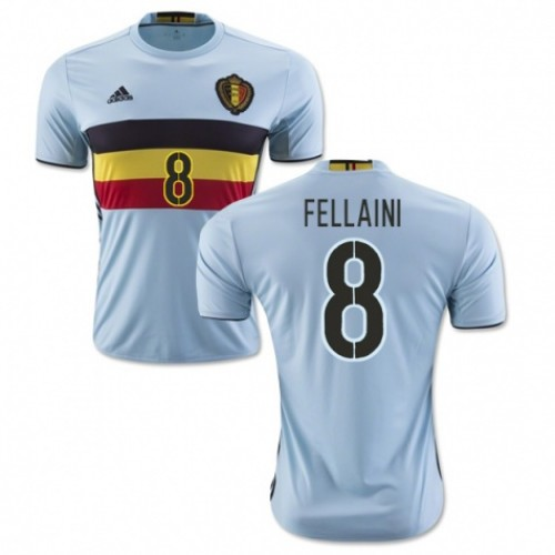 db1f995f3e6 Belgium National Soccer Team #8 Marouane Fellaini Away Jersey 2016
