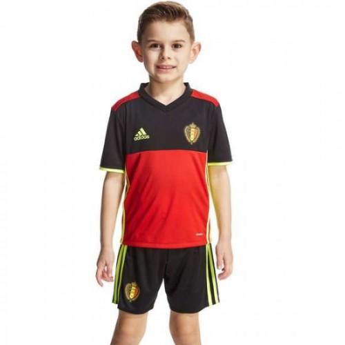 Youth Kids Belgium National Soccer Team Home Kit 2016 349e3d466
