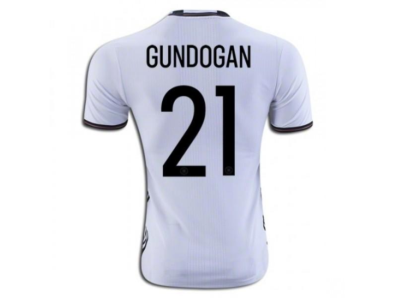 sports shoes cced4 dfb66 Germany #21 Ilkay Gundogan Home Football Shirt 2016