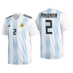 Argentina #2 Jonatan Maidana White-Blue National Soccer 2018 World Cup Authentic Jersey