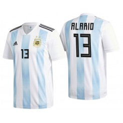 Argentina #13 Lucas Alario White-Blue National Soccer 2018 World Cup Authentic Jersey