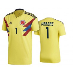 Colombia #1 Camilo Vargas Yellow National Soccer 2018 World Cup Authentic Jersey