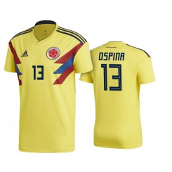 Colombia #13 David Ospina Yellow National Soccer 2018 World Cup Authentic Jersey