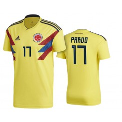 Colombia #17 Felipe Pardo Yellow National Soccer 2018 World Cup Authentic Jersey
