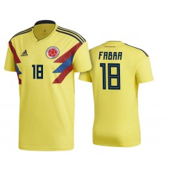 Colombia #18 Frank Fabra Yellow National Soccer 2018 World Cup Authentic Jersey