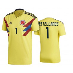 Colombia #1 Leandro Castellanos Yellow National Soccer 2018 World Cup Authentic Jersey
