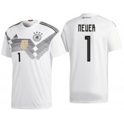 Germany #1 Manuel Neuer White National Soccer 2018 World Cup Goalkeeper Authentic Jersey