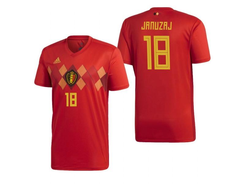 eb29812da31 Belgium National Soccer 2018 World Cup Red #18 Adnan Januzaj Authentic  Jersey