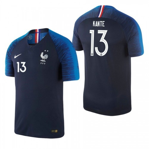France National Soccer 2018 World Cup Champions Navy #13 N'Golo Kanté Replica Jersey