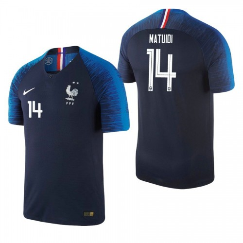 France National Soccer 2018 World Cup Champions Navy #14 Blaise Matuidi Replica Jersey