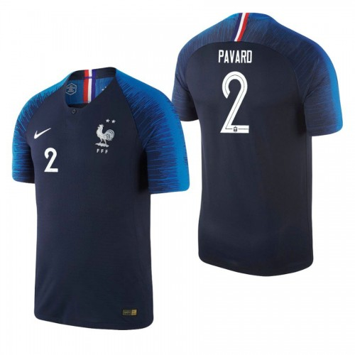 France National Soccer 2018 World Cup Champions Navy #2 Benjamin Pavard Replica Jersey