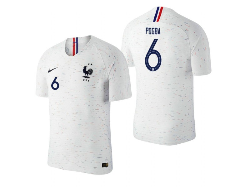 newest e1d1a 60a39 France National Soccer 2018 World Cup Champions White #6 ...
