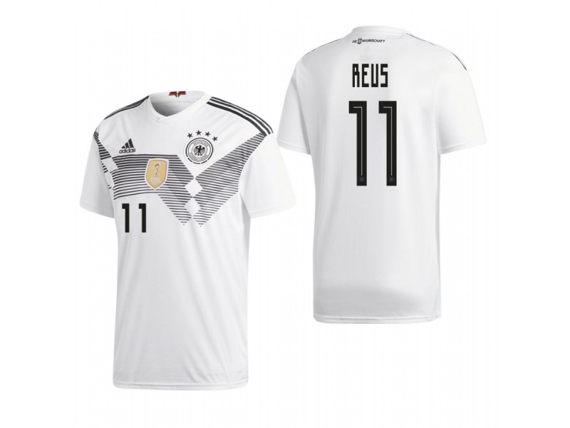 brand new 72379 45b39 Germany National Soccer 2018 World Cup White #11 Marco Reus ...