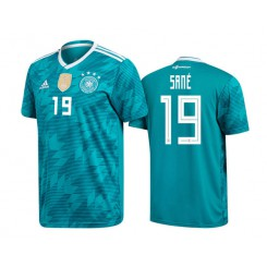 a46397541 Germany National Soccer 2018 World Cup Green #19 Leroy Sané Authentic Jersey