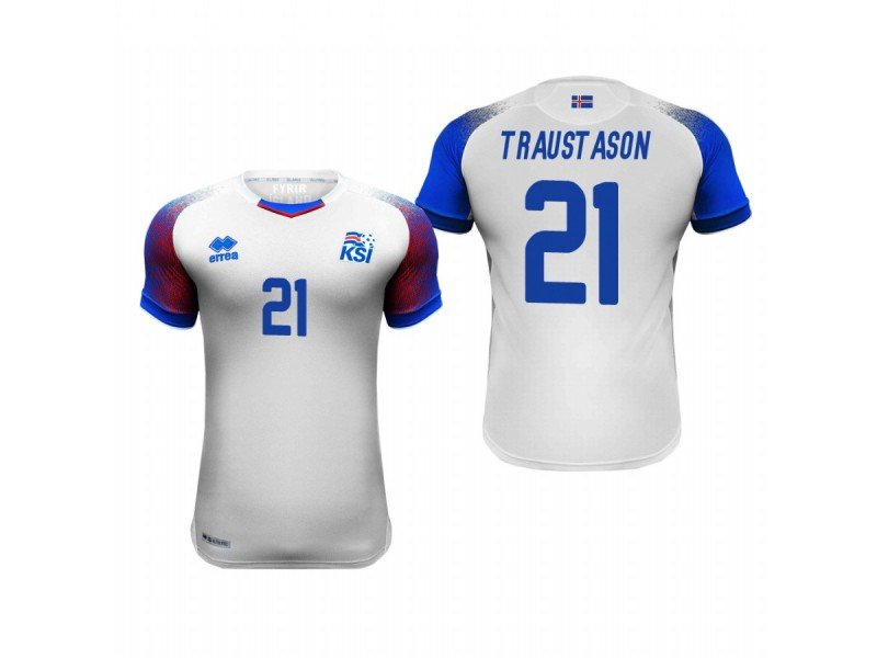 huge discount eb1f0 1a232 Iceland National Soccer 2018 World Cup White #21 Arnór Ingvi ...