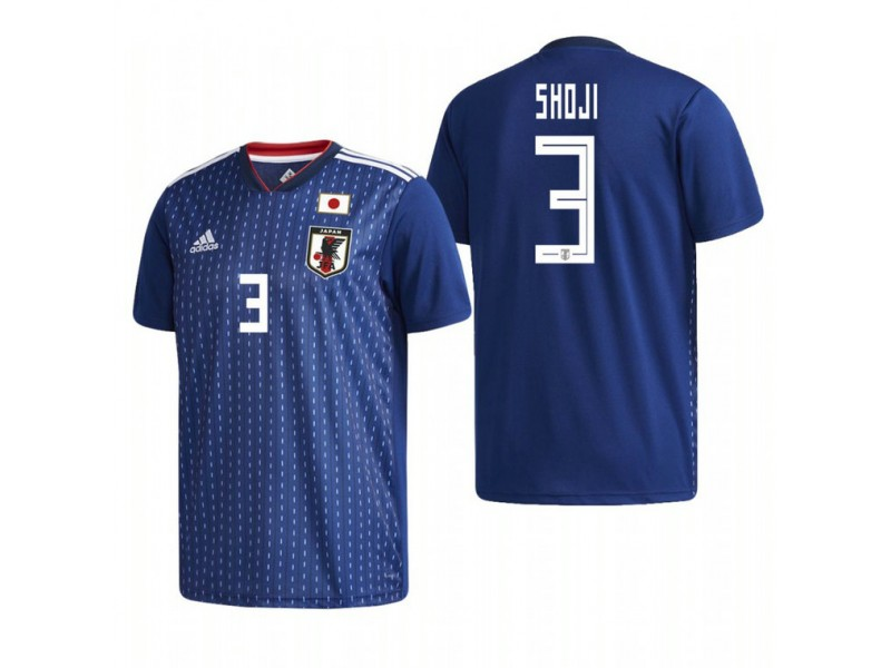 quality design 1251e 45dfe Japan National Soccer 2018 World Cup Blue #3 Gen Shoji ...