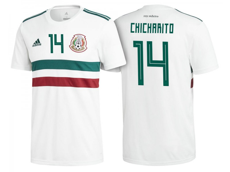 big sale 5aa57 d4a4d Mexico National Soccer 2018 World Cup White #14 Javier ...