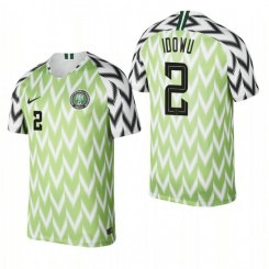 Nigeria National Soccer 2018 World Cup Bright Green #2 Brian Idowu Authentic Jersey