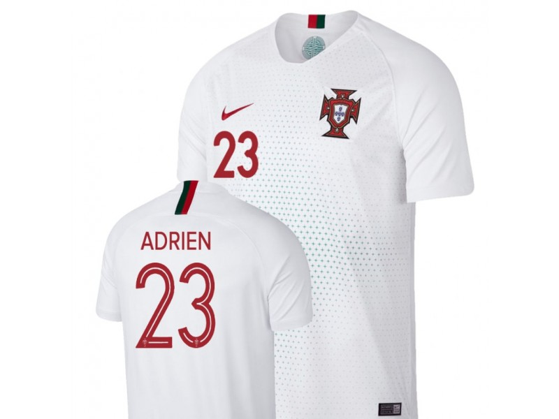 differently d3262 bdb70 Portugal National Soccer 2018 World Cup White #23 Adrien ...