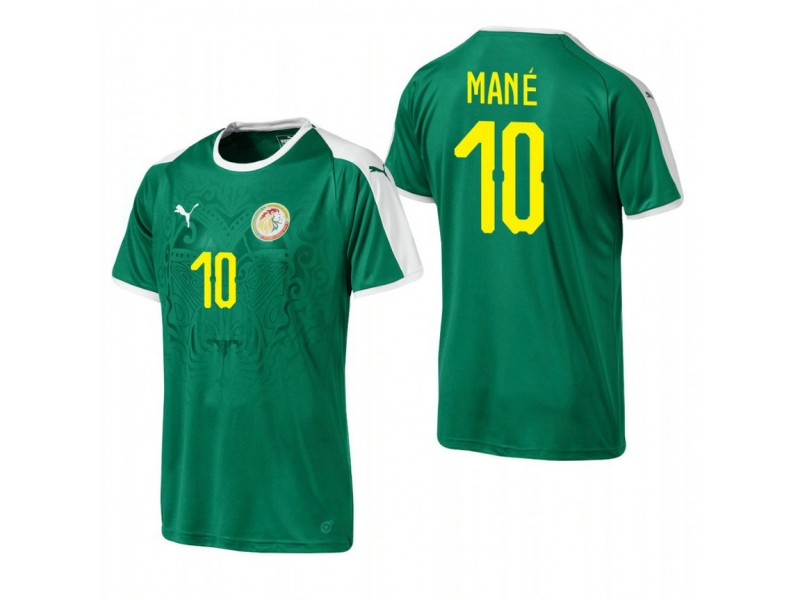 new products 7fb5e 15135 Senegal National Soccer 2018 World Cup Green #10 Sadio Mané ...