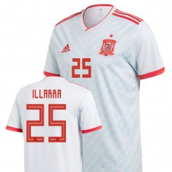 Spain National Soccer 2018 World Cup Light Blue #25 Asier Illarramendi Authentic Jersey
