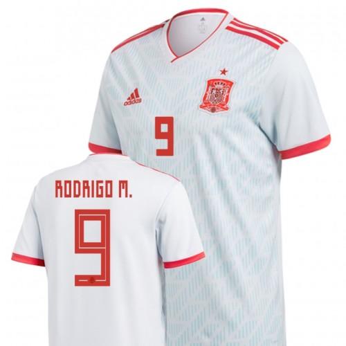 Spain National Soccer 2018 World Cup Light Blue #9 Rodrigo Moreno Machado Replica Jersey