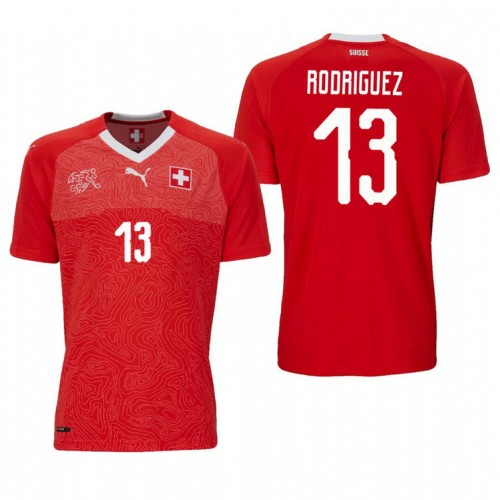 Switzerland National Soccer 2018 World Cup Red #13 Ricardo Rodríguez Authentic Jersey