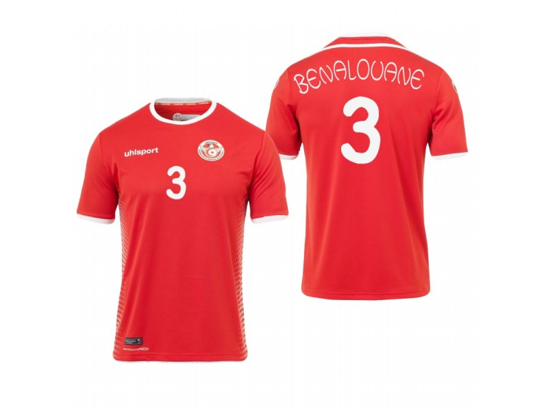 premium selection 24492 49d2a Tunisia National Soccer 2018 World Cup Red #3 Yohan ...