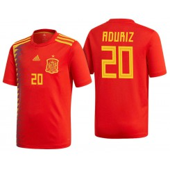 Spain #20 Aritz Aduriz Red National Soccer 2018 World Cup Authentic Jersey