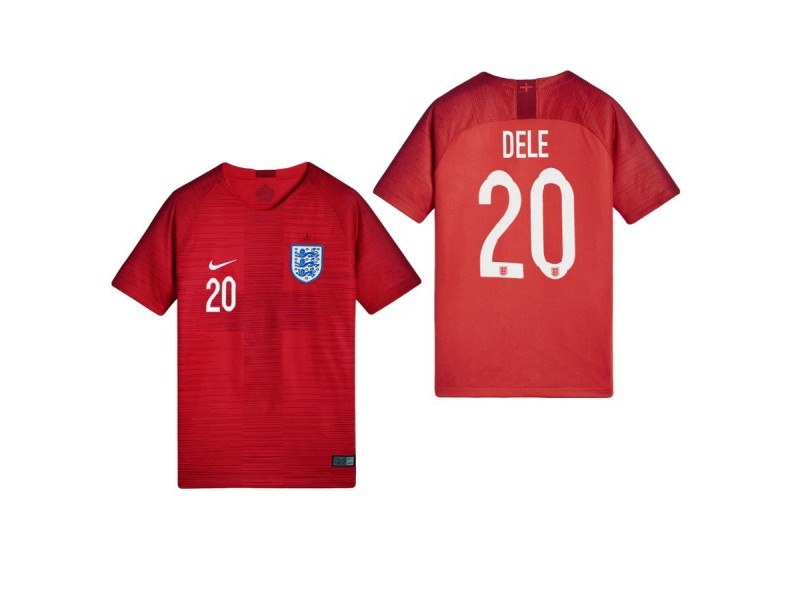 timeless design 76659 4b95c Youth England National Soccer 2018 World Cup Red #20 Dele ...