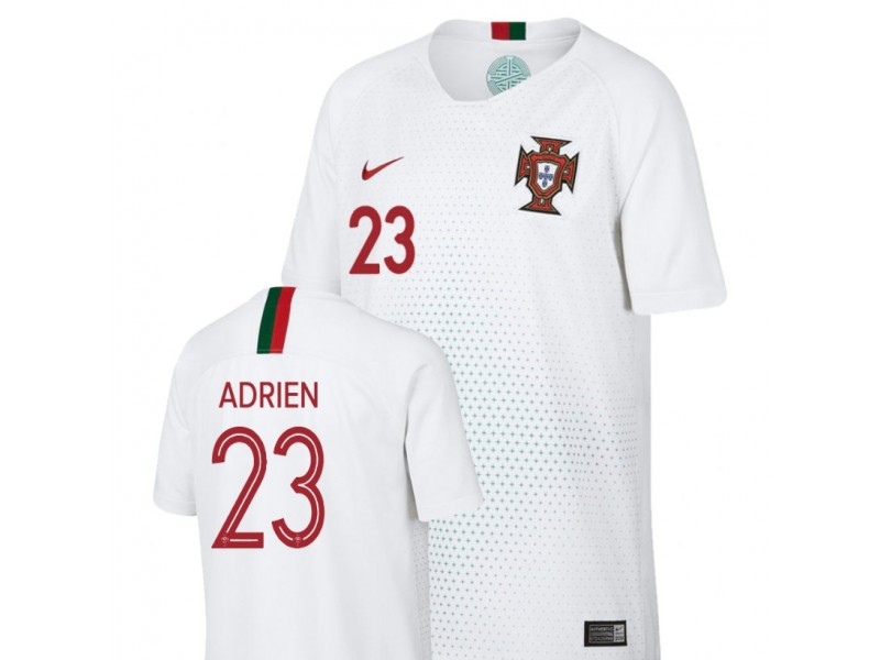 dcf2e36ec1f Youth Portugal National Soccer 2018 World Cup White #23 Adrien Silva Replica  Jersey