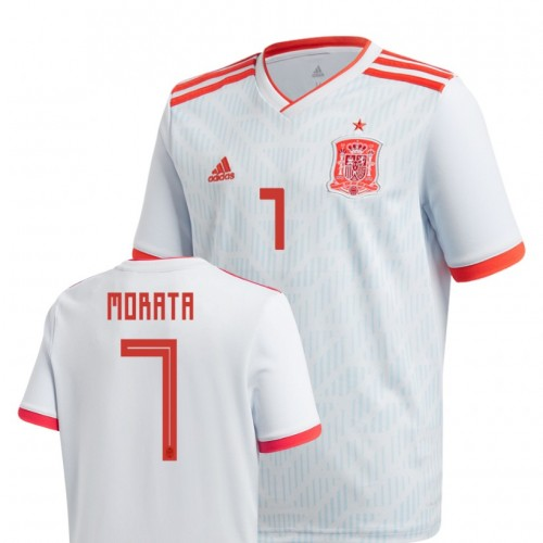 Youth Spain National Soccer 2018 World Cup Light Blue #7 álvaro Morata Authentic Jersey