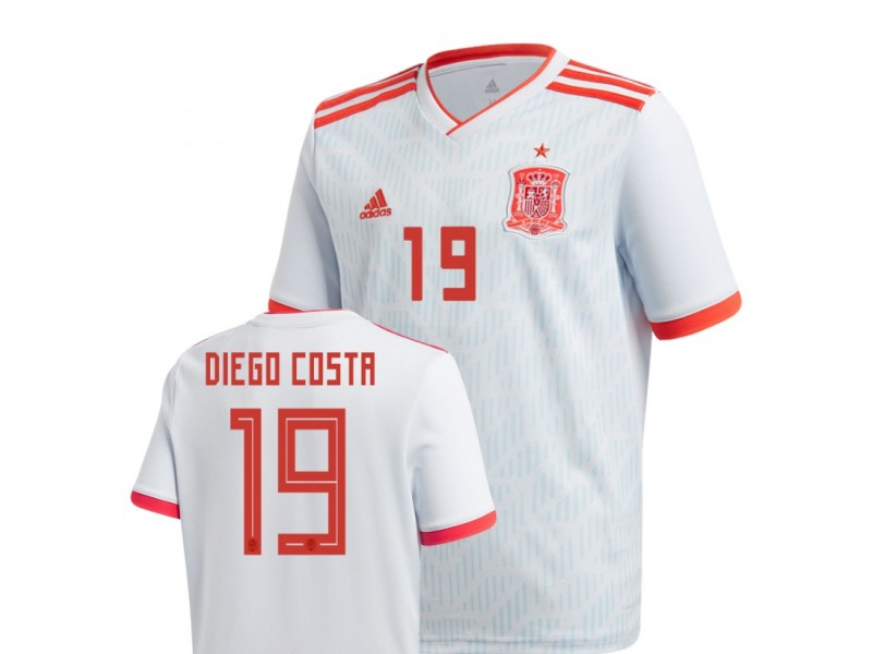 finest selection ce7e3 3b684 Youth Spain National Soccer 2018 World Cup Light Blue #19 ...