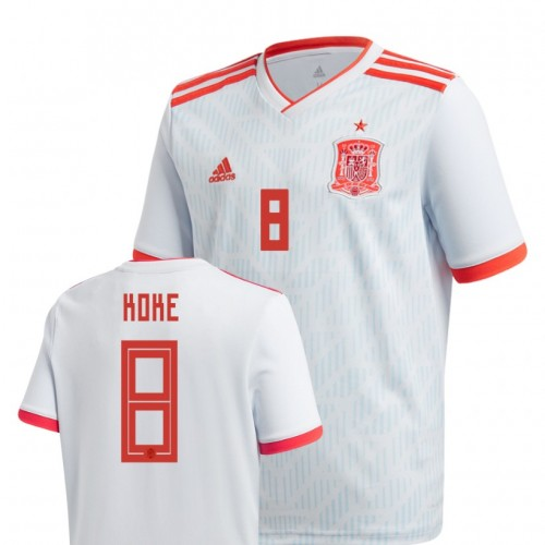 Youth Spain National Soccer 2018 World Cup Light Blue #8 Koke Authentic Jersey